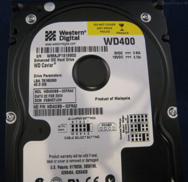 Western Digital Caviar WD400BB 40GB 7200 RPM 2MB Cache