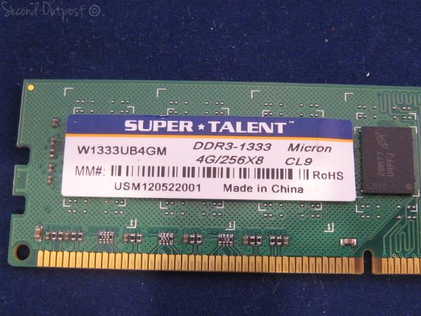 Super Talent Technology 4GB DDR3-1333